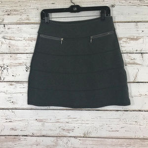 Athleta Gray Zipper Skirt